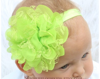 Green headband, St.Particks headband, toddler headband ,bright green headband, St.Pattys headband, kids headband, childrens headband
