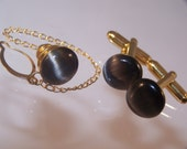 Cat's Eye Cufflinks & Tie Pin, Men's Anniversary Gifts, Available in Singles or Set