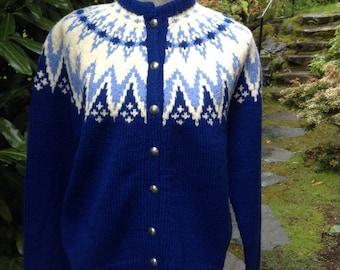 Fair Isle Norwegian wool sweater by Turi
