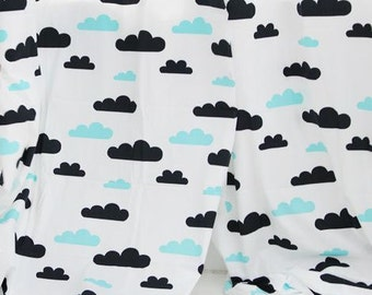 Lovely and Cosy Cloud Pattern Cotton Fabric by Yard AQ16