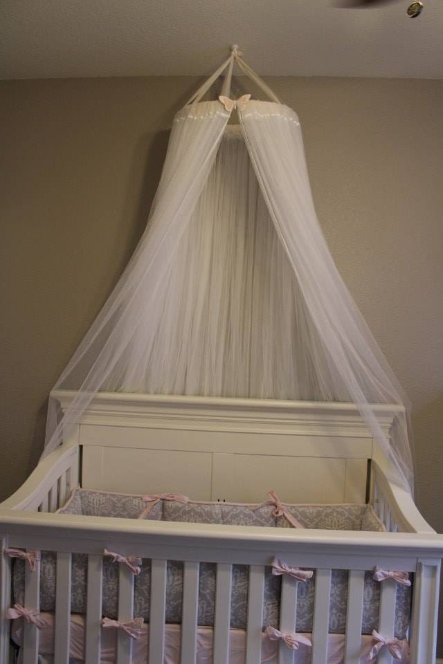 Gorgeous canopy great for crib bassinet bed or decoration for Canopy over crib