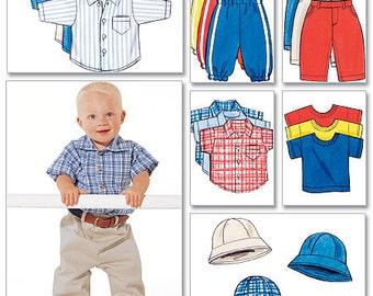 Butterick Sewing Pattern B5510 Infants' Shirt, T-Shirt, Pants and Hat