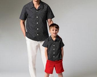 McCall's Sewing Pattern M6972 Men's/Boys' Shirt, Shorts and Pants