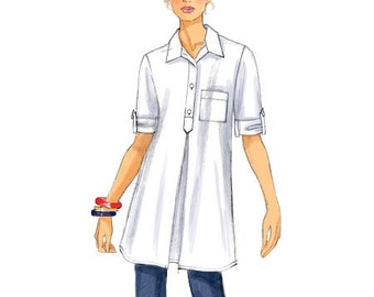 Butterick Sewing Pattern B6099 Misses' Pleated Button-Up Tunics