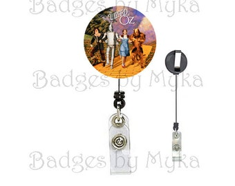 Retractable ID Badge Holder - Off to See the Wizard of Oz