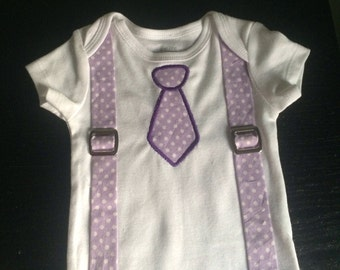 SALE 40% OFF-Baby Boy Clothes- Tie and Suspenders Outfit