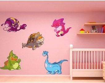 Baby Dino Set II nursery wall decal, deco, sticker, mural, vinyl wall art
