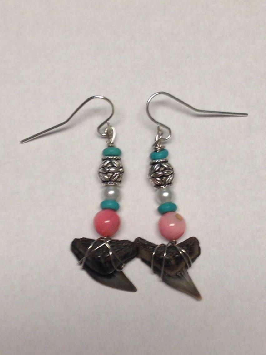 shark teeth earrings shark teeth jewelry shark tooth