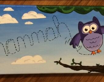 Custom Kids Name Painting