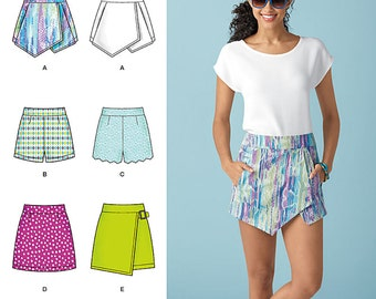 Simplicity Pattern 1370 Misses' Shorts, Skort and Skirt