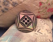 Beautiful Rainbow Mother of Pearl Button