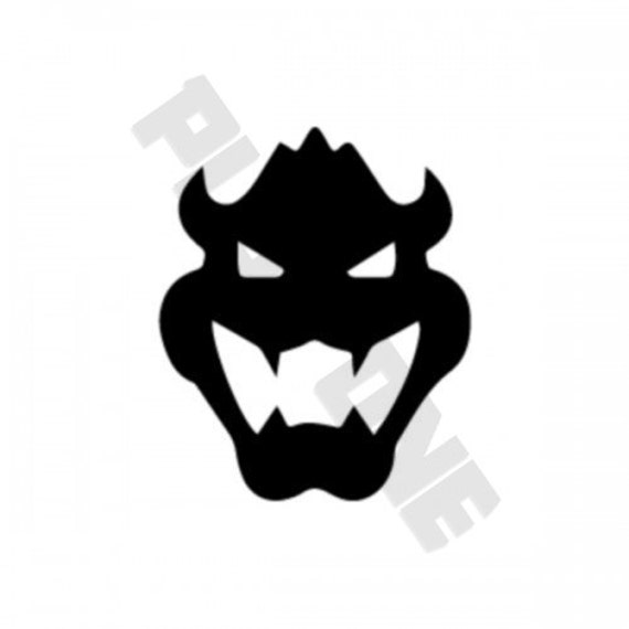 Bowser Face Decal Sticker Iphone Nintendo 3DS Gaming