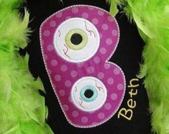 Eyeball Personalized Halloween Infant Bodysuit/Tshirt