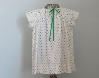 White Shamrock Dress, vintage McCall pattern, Size 4