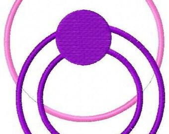 Pacifier Applique Embroidery Design