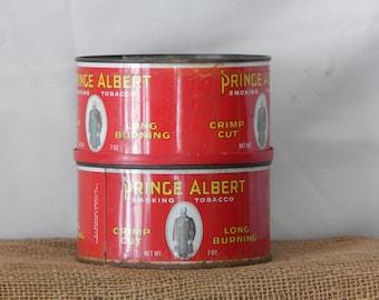 2 Prince Albert Smoking Tobacco tins