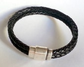 FREE - mail two braided cord bracelet / Men's leather bracelet