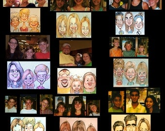 Custom Personalized Caricature (Color headshot, Triple) by Peter Battaglioli