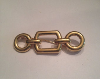 Vintage Avon Gold Brooch 1980s Costume Jewelry