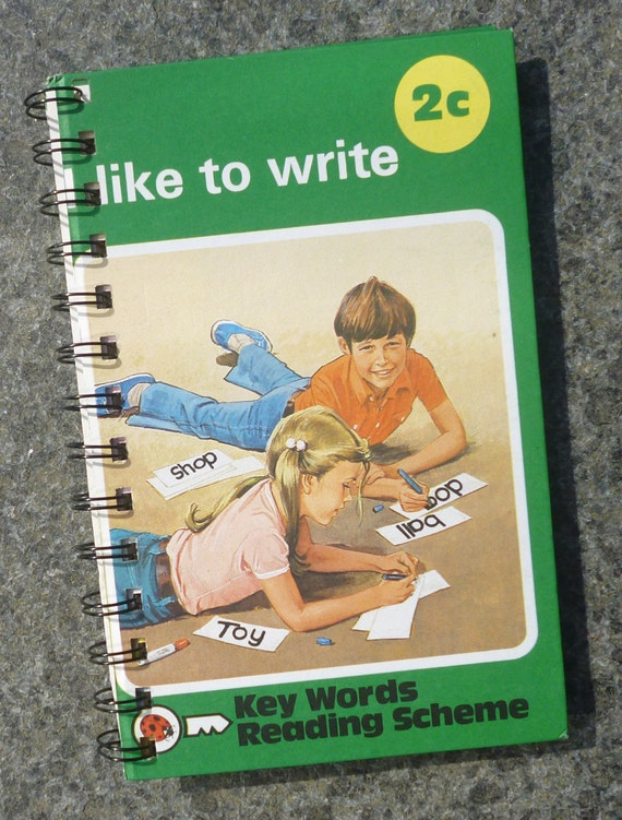 Upcycled Ladybird book handmade notebook with mix'n'match pages