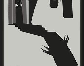 Nosferatu: A Symphony of Terror, Original Vector/Minimalist Horror Poster, Graphic design by Cult.Graphics
