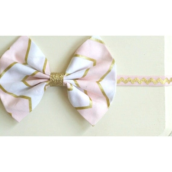 items similar to blush pink white and gold chevron print