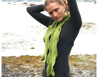 Scarf Knitting Pattern PDF, Summer Scarf Knitting Pattern, Knit Scarf Pattern, Summer Knitted Scarf Pattern, Tidal Cove Scarf