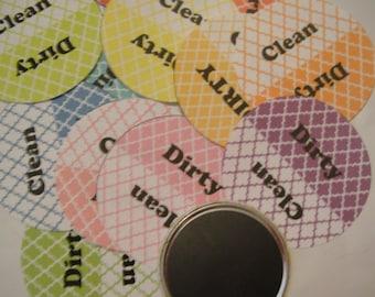 Clean/ Dirty Dishwasher Magnet Mosaic Tile