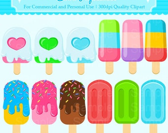 Cool Popsicles Clipart Set - For Commercial and Personal Use Cliparts
