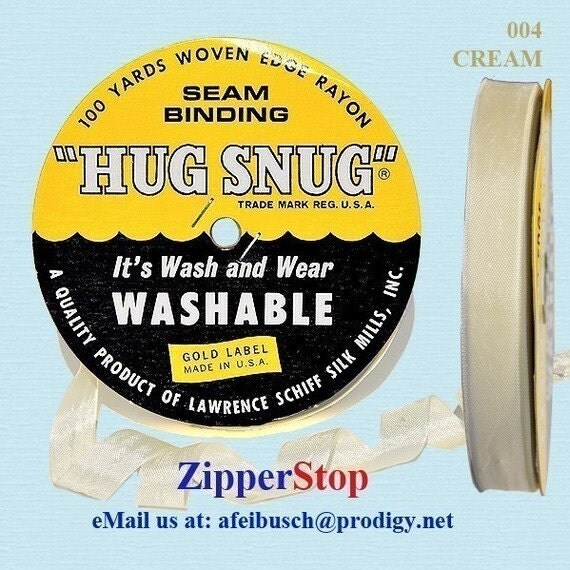 CREAM Hug Snug Seam Binding 100 Yard Roll By