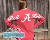 Alabama ROLL TIDE Comfort Colors Long Sleeve T-Shirt - Y'all Fancy