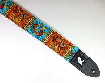 Kokopelli Southwestern Guitar Strap - Native American - Navajo - Tribal