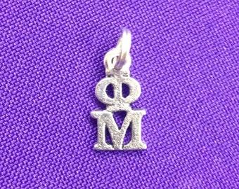Phi Mu Greek Sorority Lavaliere Charm, Officially Licensed