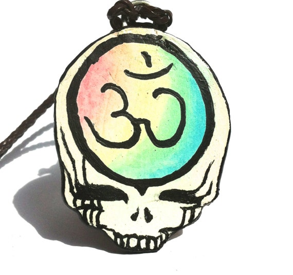 Grateful Dead CUSTOMIZABLE Steal Your Face Necklace, Stealie Pendant, Deadhead, Festival Accessory, Hippie Jewelry, Deadhead Art Alliance