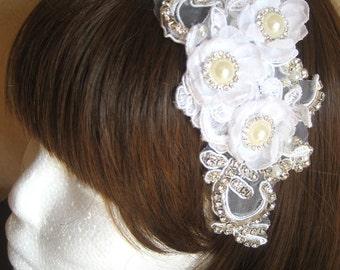 Beaded Wedding Headpiece, Bridal Hair Accessories, Wedding Hair Accessory TAYA