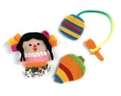 """Fridge Magnets """"Mexican toys""""."""