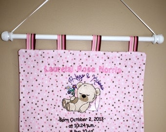 Personalized Baby Wall Hanging