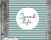 Speak Life || Christian Lyrics || Home Decor || Toby Mac || Encouragement