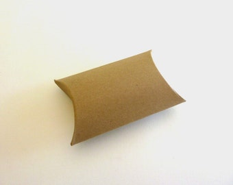 Small kraft pillow boxes - Set of 5