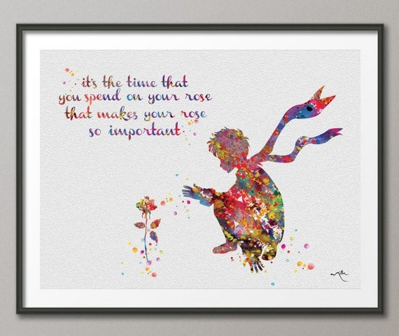 The little prince rose quotes quotesgram Decoration le petit prince
