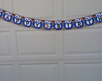 Cookie Monster Birthday Banner