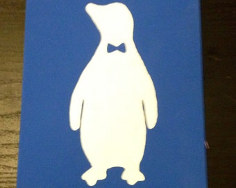 Penguin with a bow tie