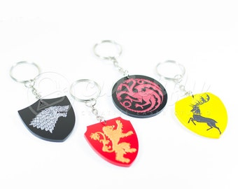 20% OFF - Game of Thrones Keychains - Set of Four