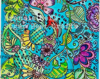 Coloring Page Adult Enchanted Garden Download Hobby Image