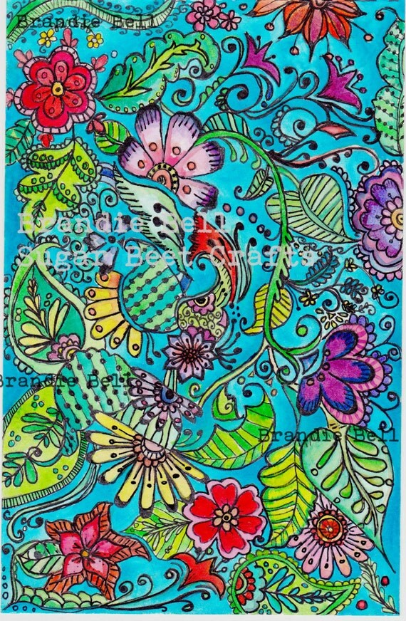 Coloring Page Adult Coloring Enchanted Garden Coloring Page