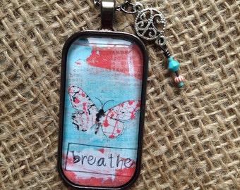 "Inspirational ""Breathe"" pendant"