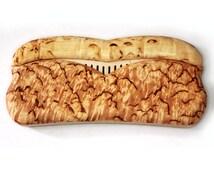 Wooden Comb By Karelian birch (расческа в футяре из карельской березы)