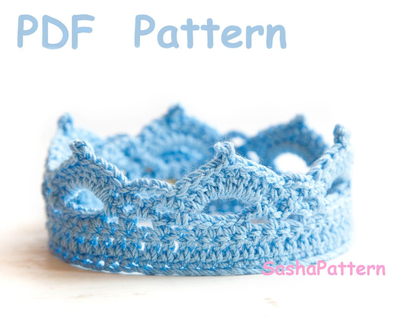 Free Crochet Pattern For Elsa Crown : Crochet Crown Pattern Baby crochet tiara Easy level