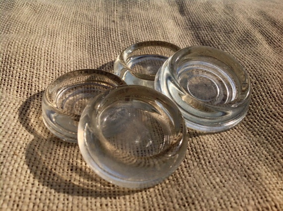 Glass Furniture Coasters Floor Protectors Set Of 4