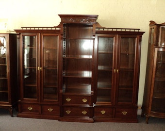Large Antique Cherry Bookcase, Display Cabinet circa 1900, ON SALE!